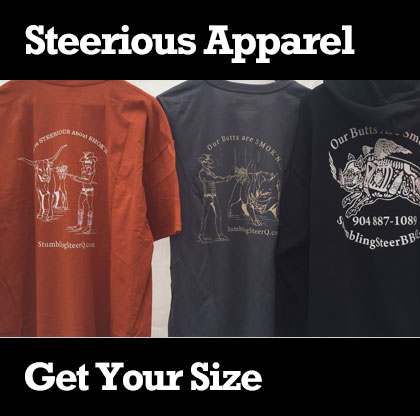 clothing apparel by stumbling steer bbq