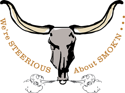 steer head logo by stumbling steer bbq