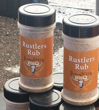 bbq rub from stumbling steer bbq, we call it rustler's rub