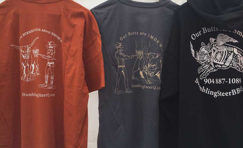 Stumbling Steer BBQ Shirts